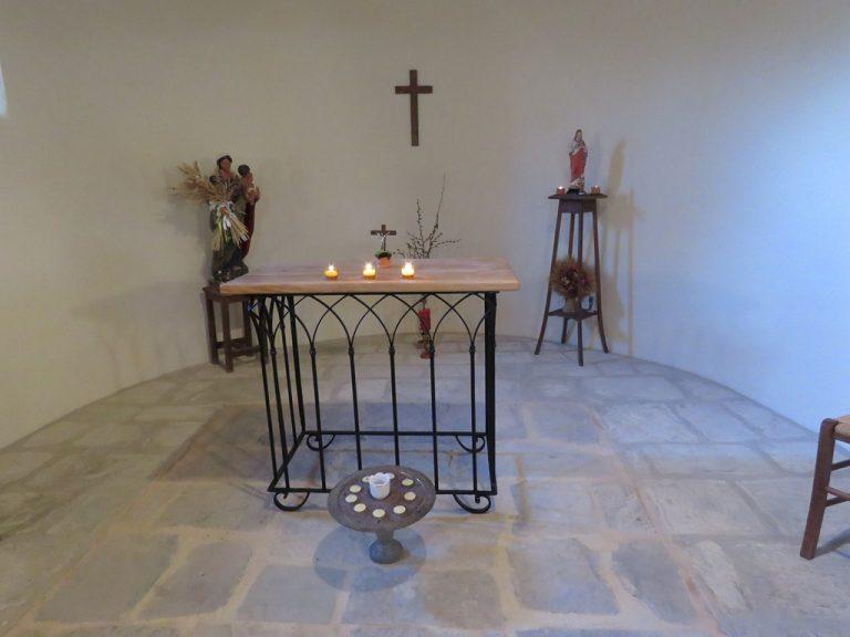 visite de la chapelle d'Arnayon avant de se dire au revoir...