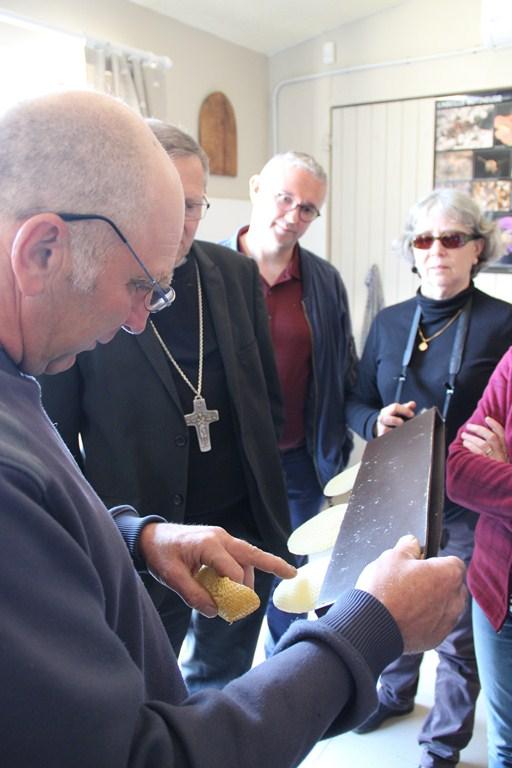 visite de la miellerie à Plaisians