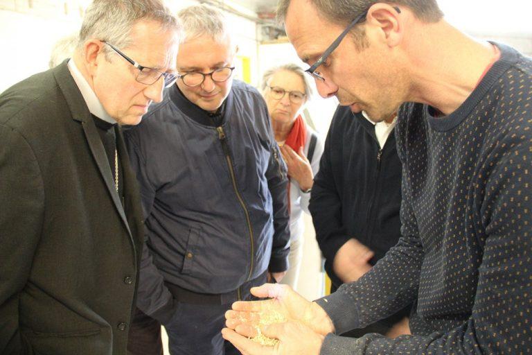 visite d'un décortiqueur d'épeautre à Montguers