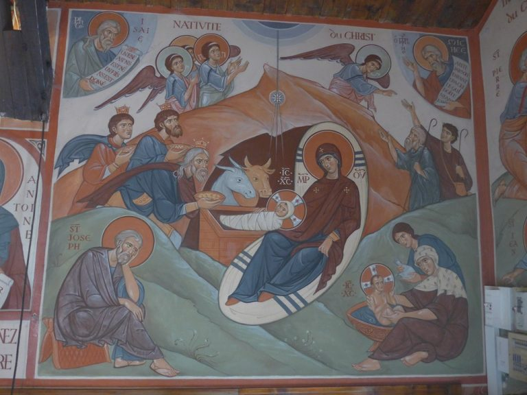 Fresque : nativité