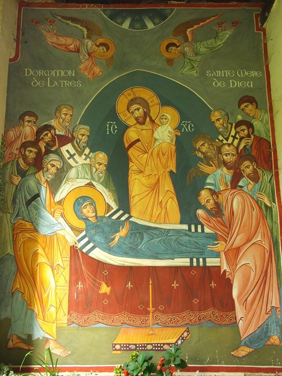 Fresque d'entrée de la chapelle (Dormition)
